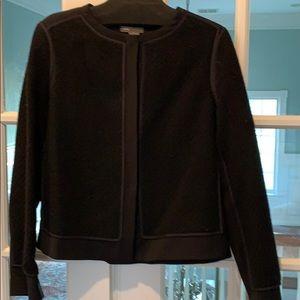 Vince black textured wool jacket